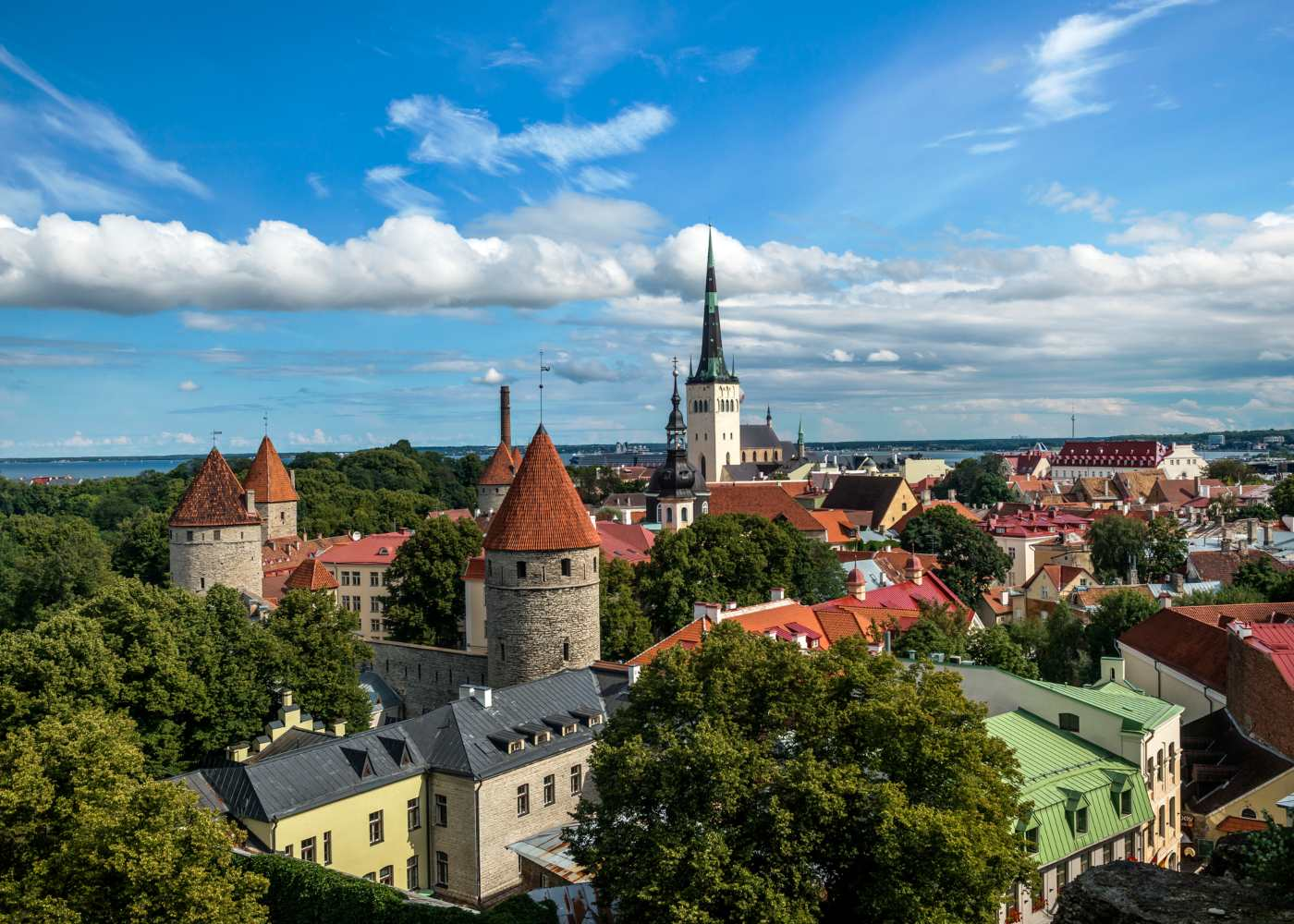 Vista de Talin na Estónia