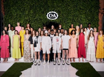 Modelos com a nova coleção da C&A