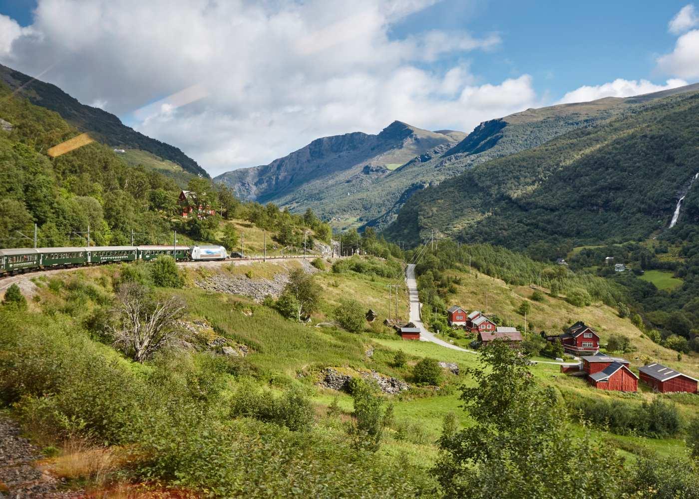 Comboio Flam Railway na Noruega