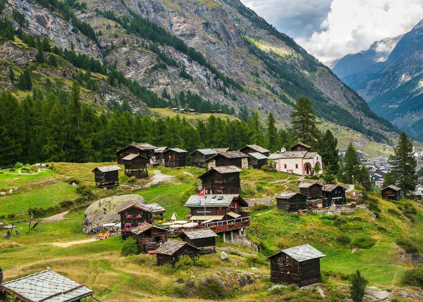 Vila de Zermatt na Suíça