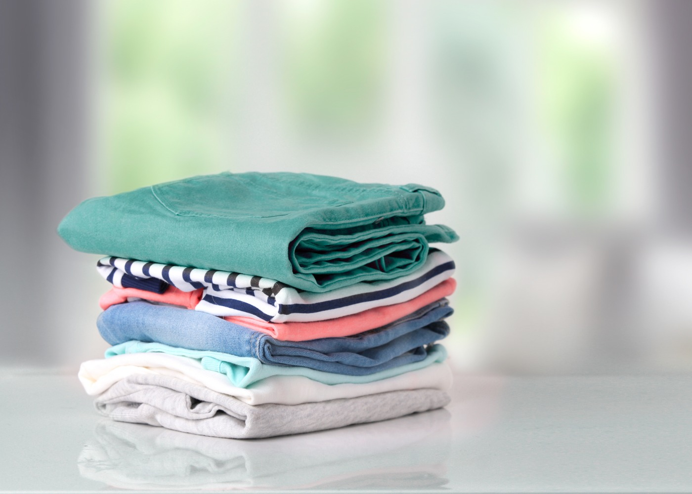 roupa dobrada depois de lavada