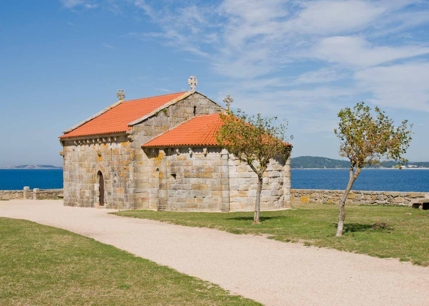 Capelo em O Grove junto ao mar
