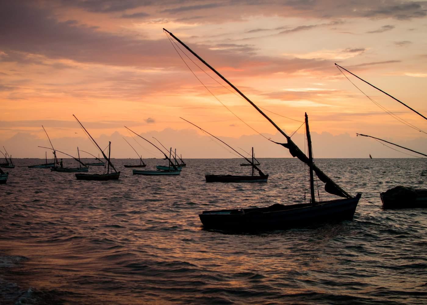 Barcos de pesca em Maputo