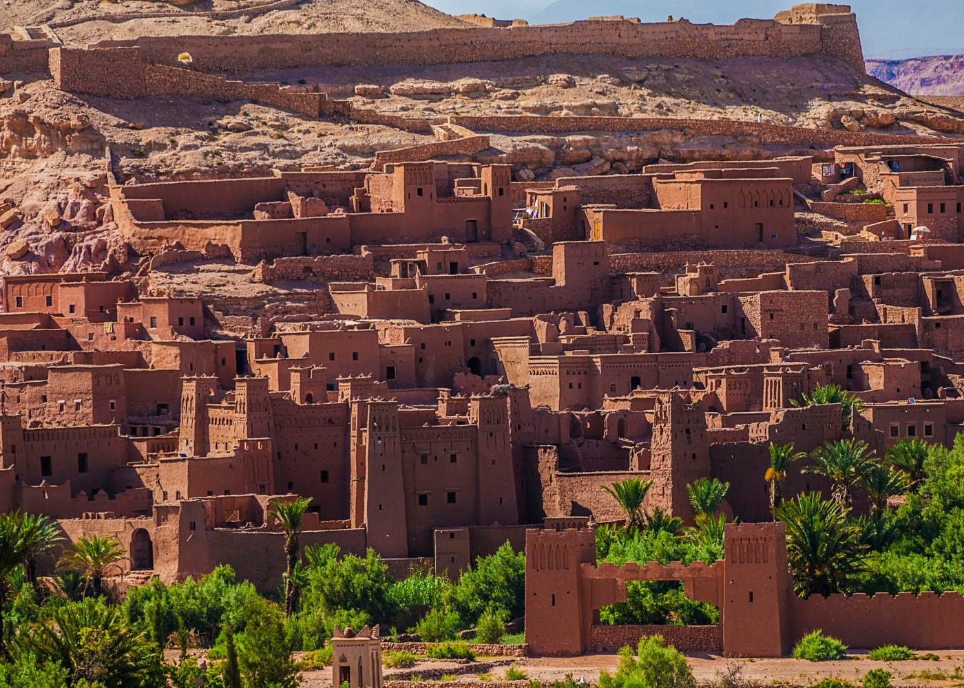 Panorâmica da cidade do cinema em marrocos