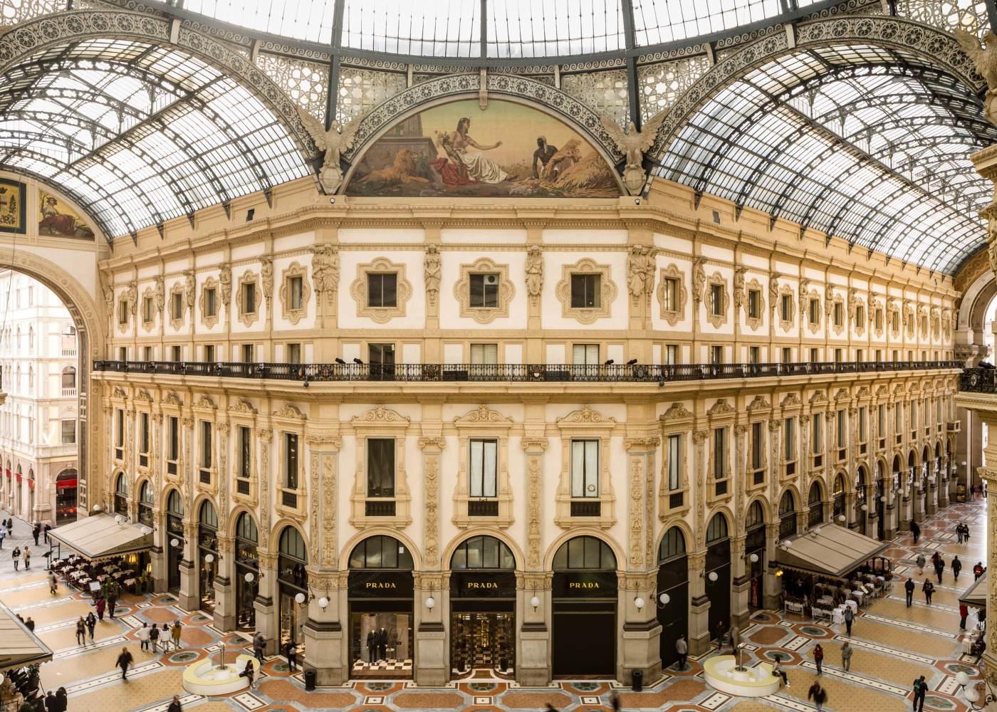 Galerias no roteiro de Milão