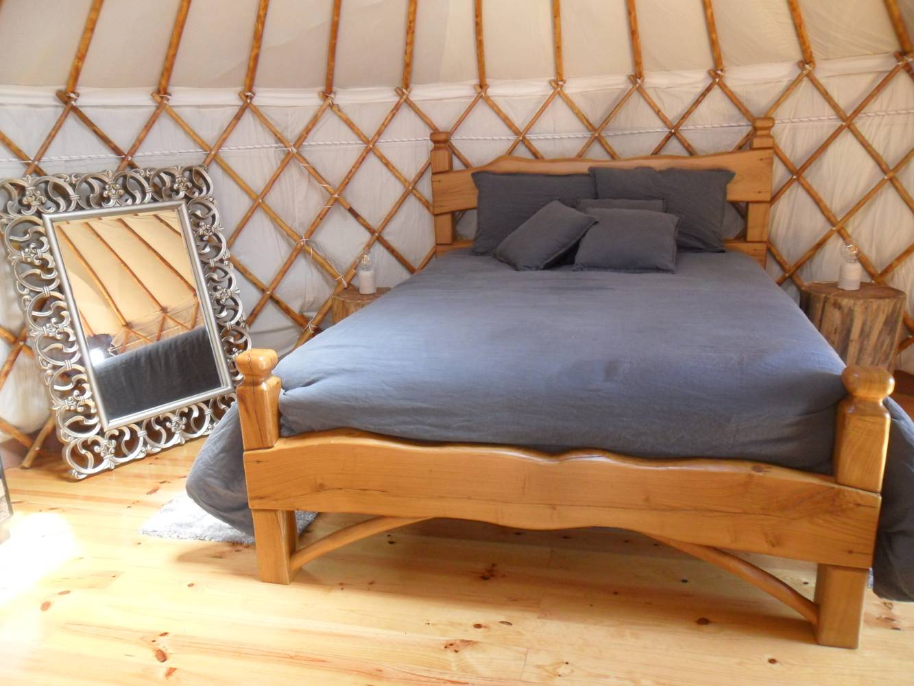 Yurt no Retiro Atlântico
