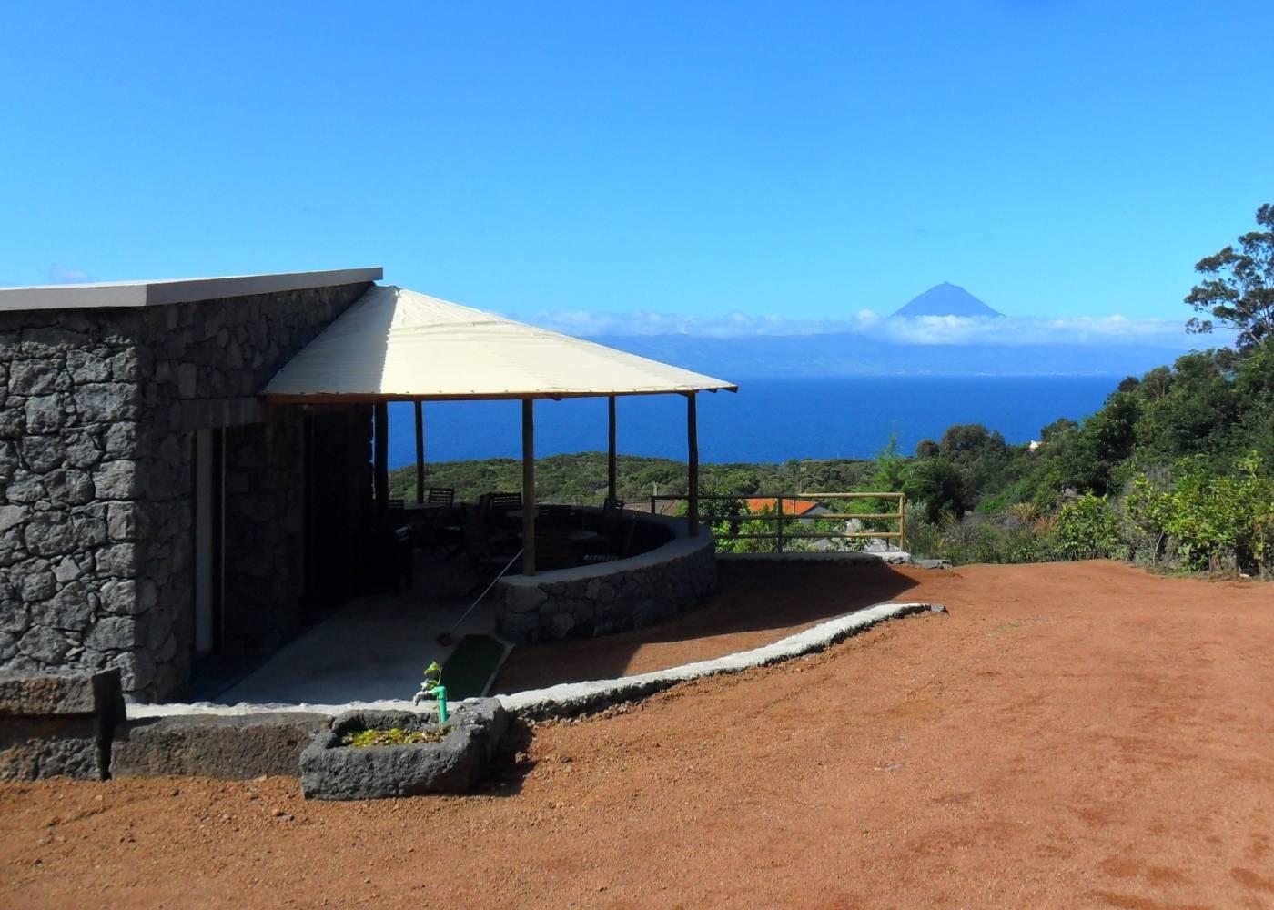 Vista da ilha do Pico