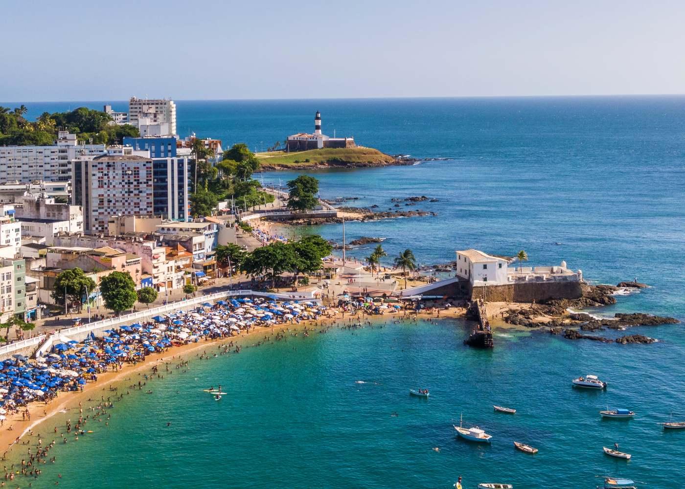 Praia da Barra em Salvador da Bahia