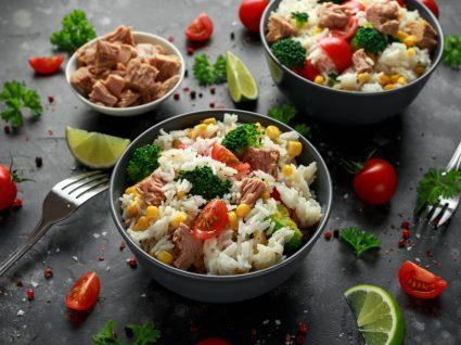 arroz e atum