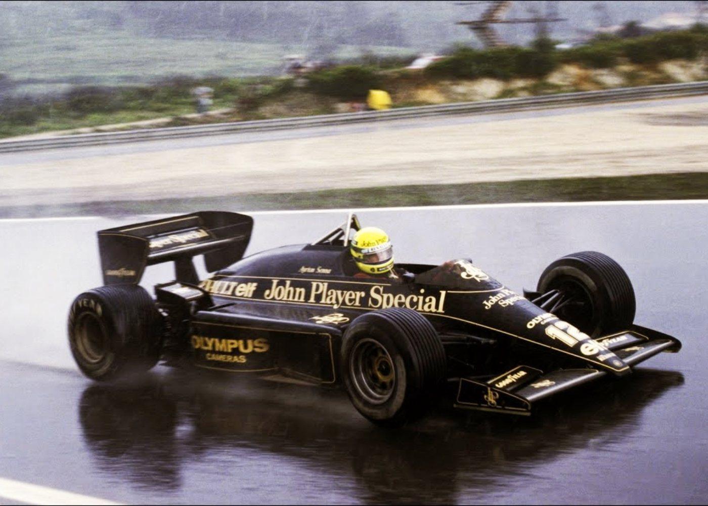 Ayrton Senna na prova do Estoril