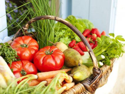 cabazes de fruta e legumes