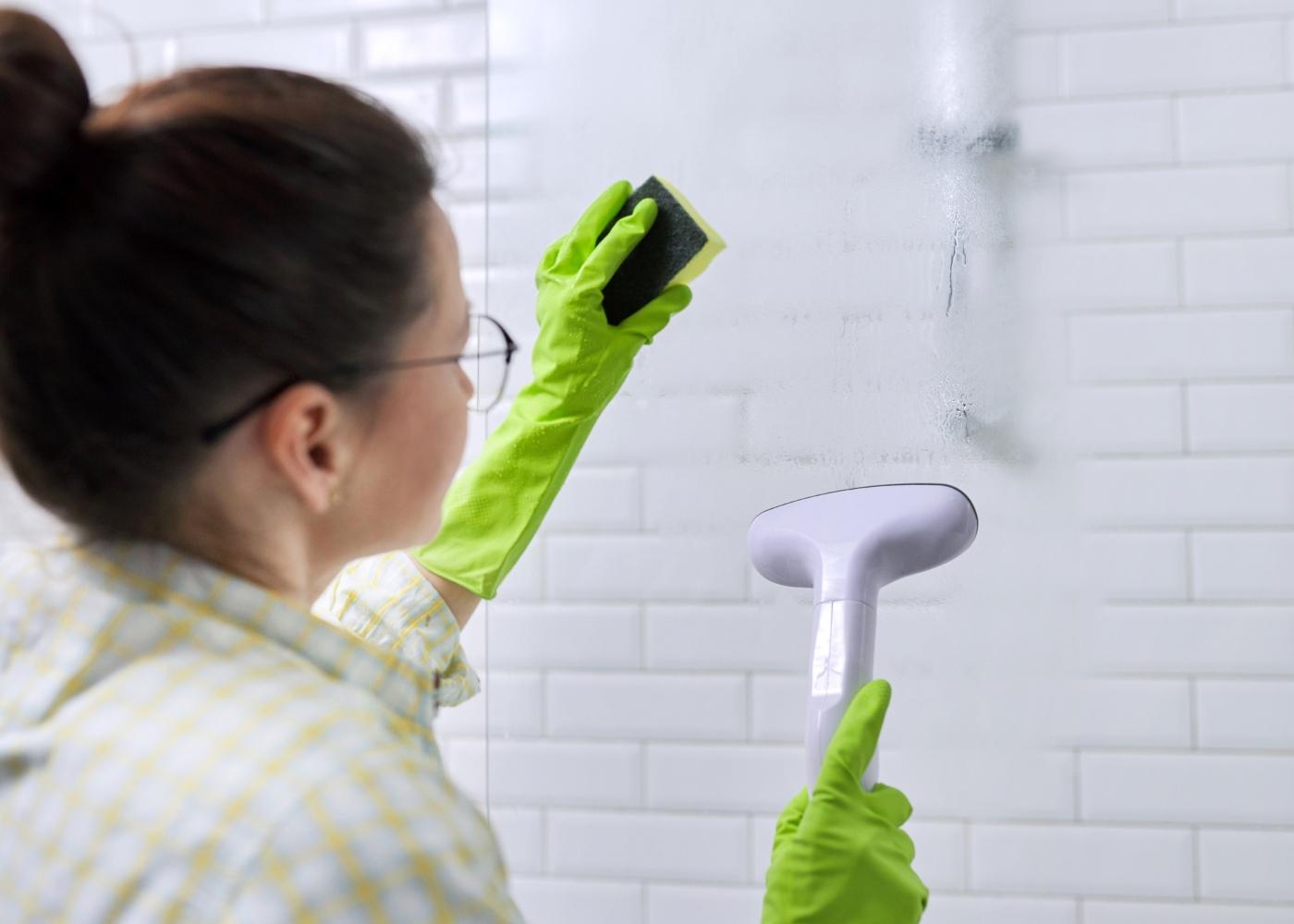 limpeza a vapor casa de banho