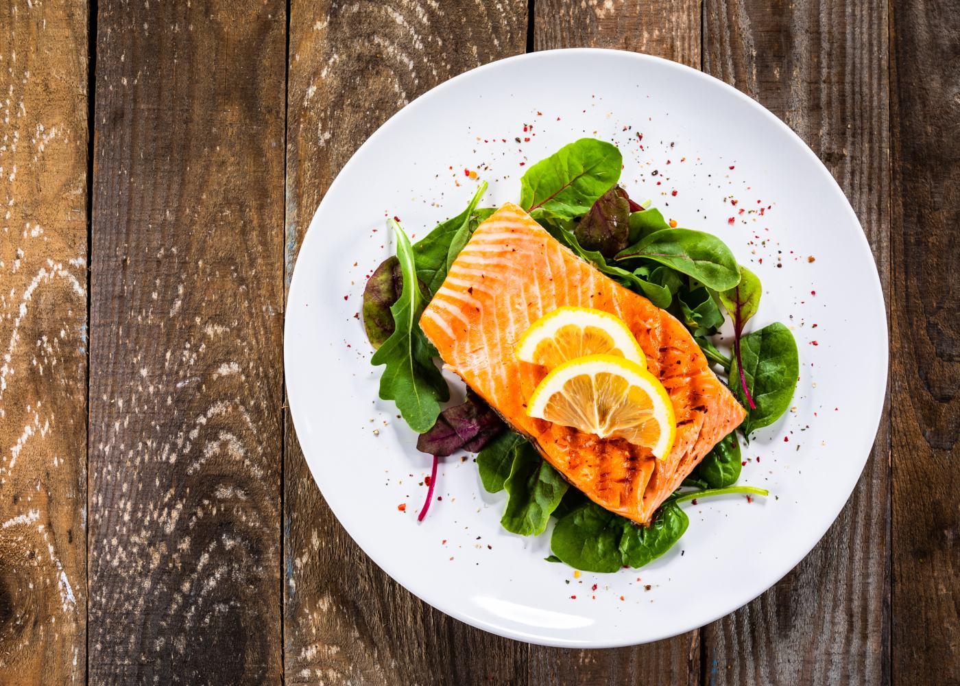 salmão grelhado