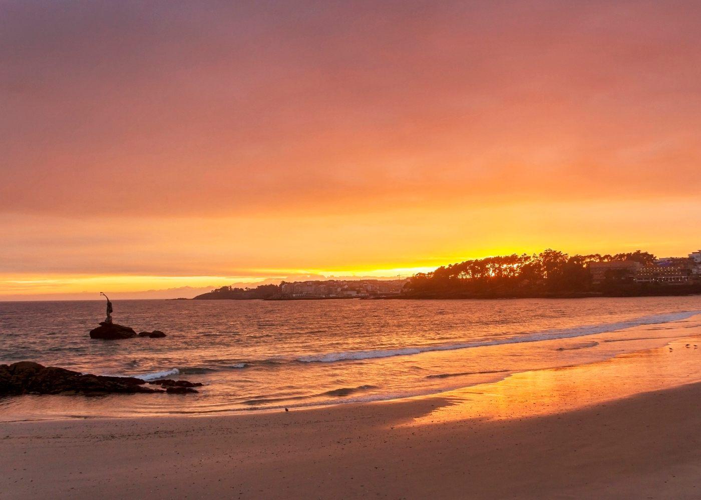 Pôr do sol em Sanxenxo