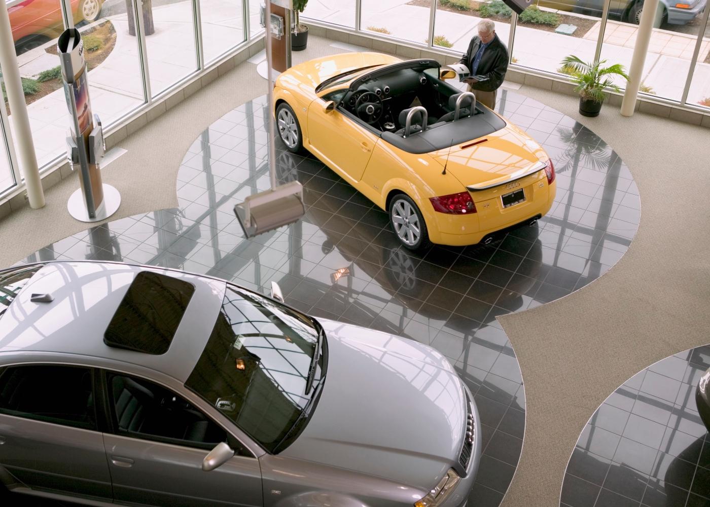 Protocolo sanitário do setor automóvel: stand de vendas