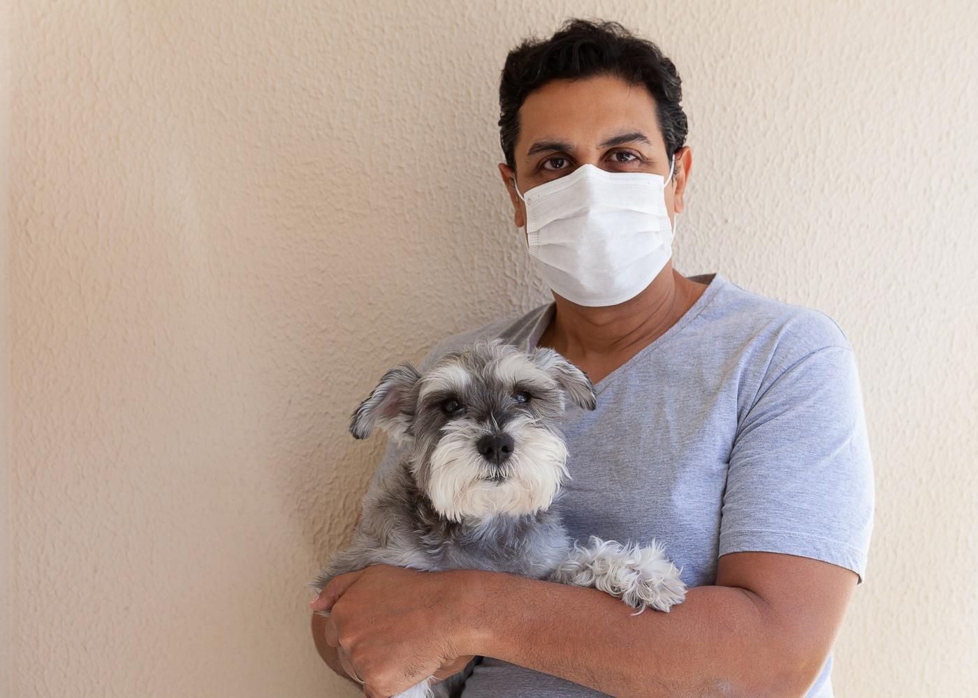 Cão no veterinário durante a pandemia