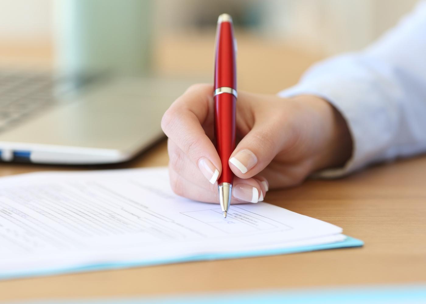 assinar contrato