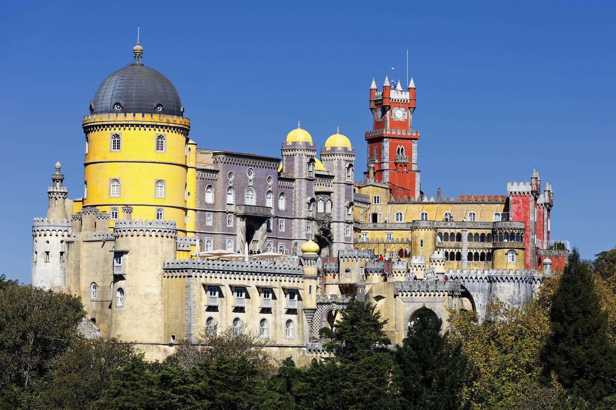 Palácio da Pena é um dos castelos de portugal