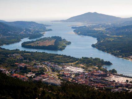 Vista aérea de Vila Nova de Cerveira