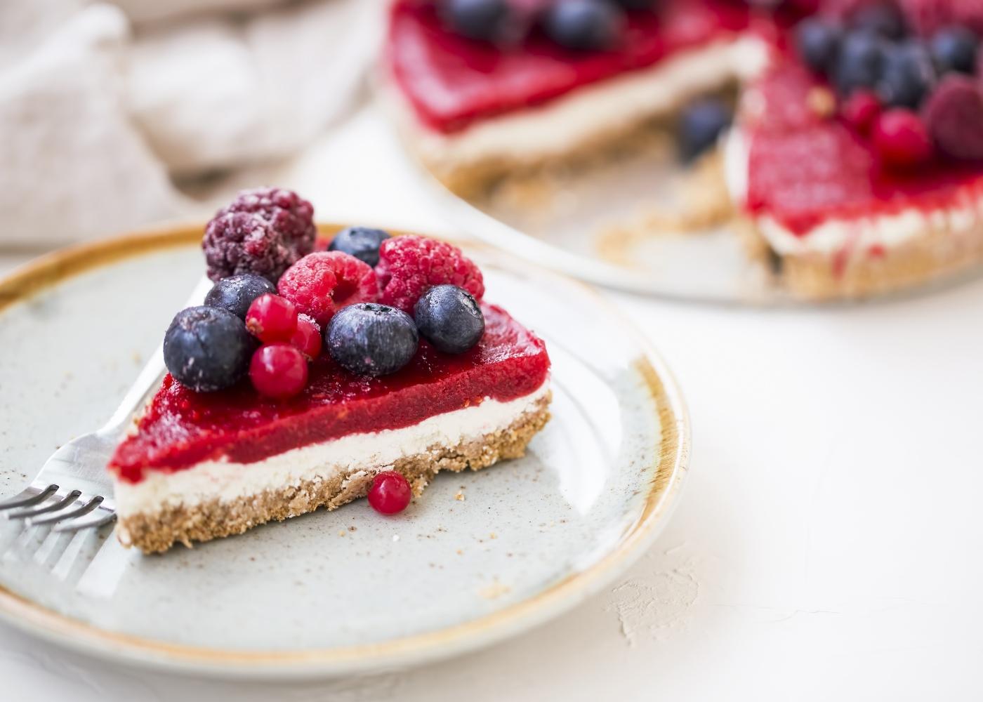 cheesecake frutos vermelhos