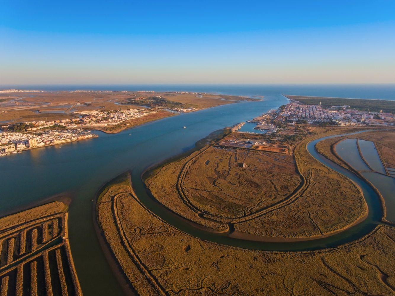 Vista aérea de Vila Real de Santo António