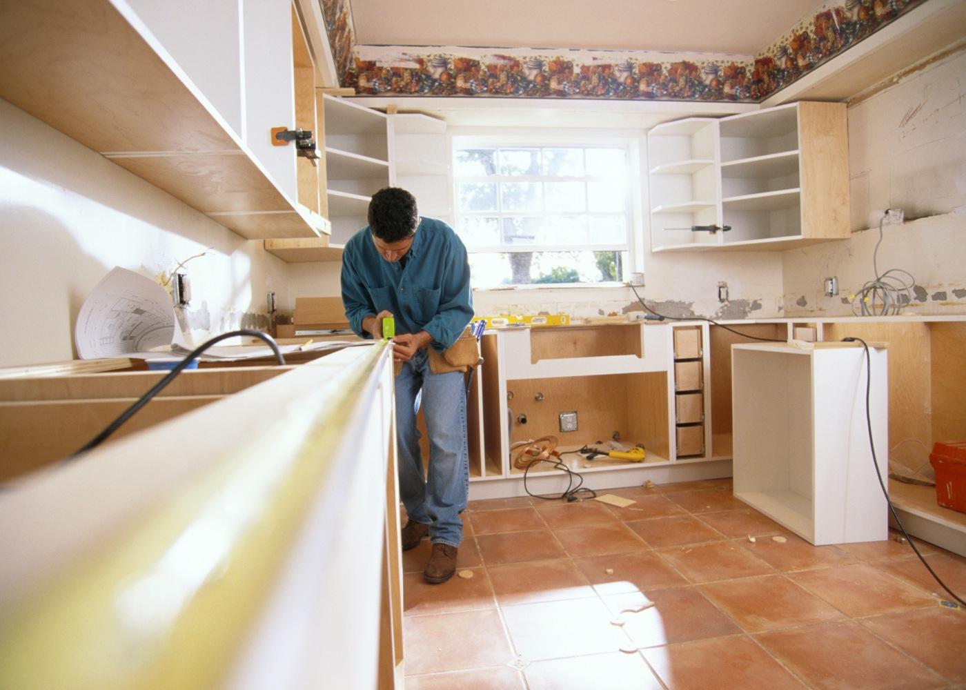 obras na cozinha