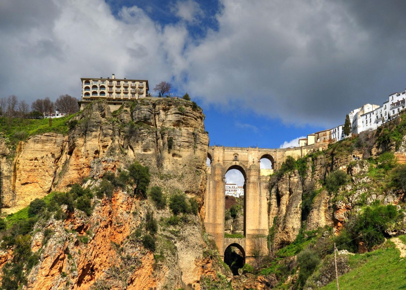 Ponte na cidade de Ronda na Andaluzia