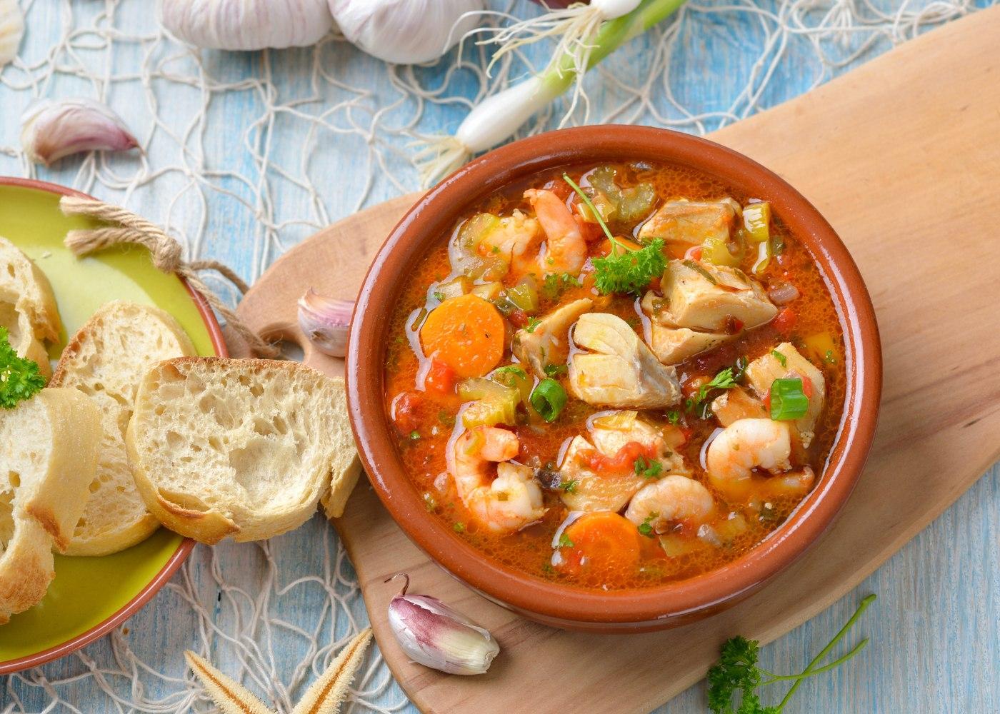 sopa de peixe algarvia