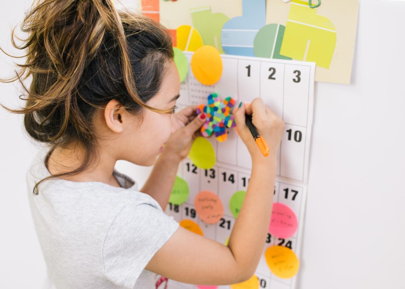aluna calendário aulas