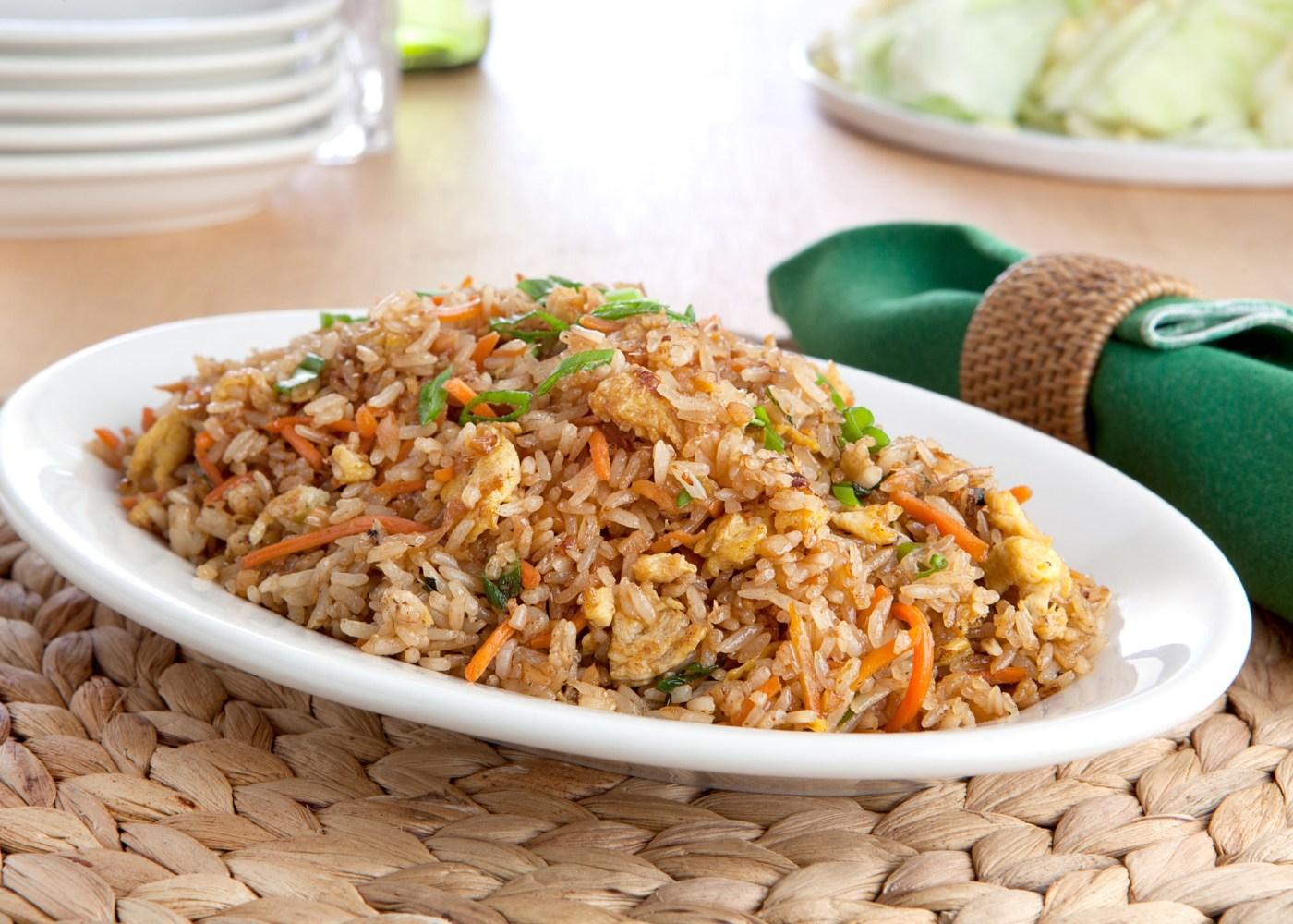 arroz frito simples
