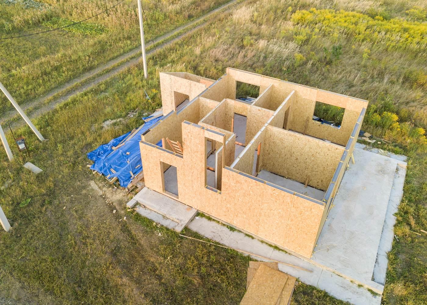 construção de casa modular