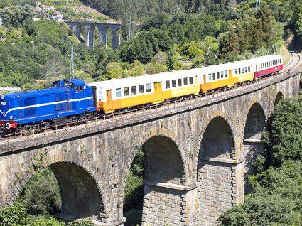 Comboio Miradouro em atividade