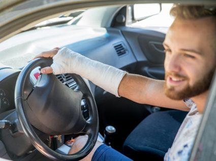 Conduzir com gesso