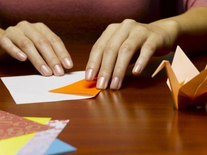decoração com origamis