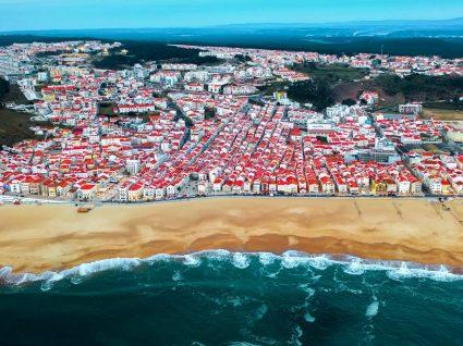 Vista aérea da Nazaré