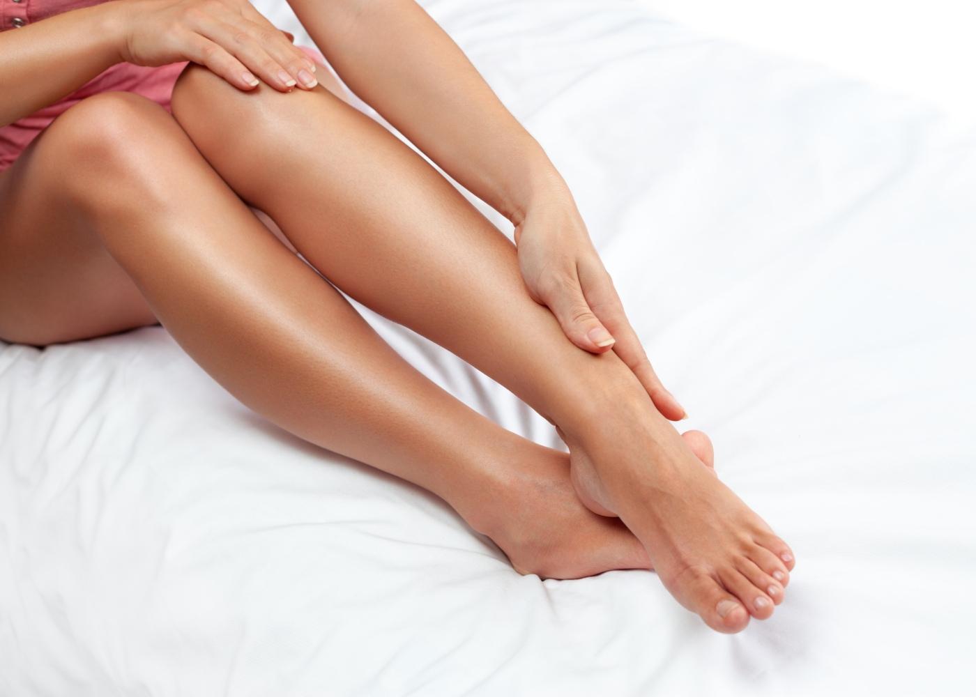Pernas de mulher depiladas