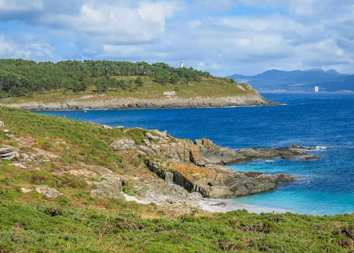 Praia de Cangas no norte de espanha