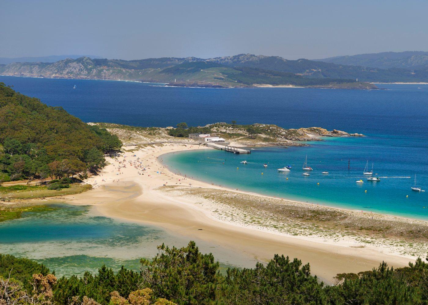Praias de Ciés no norte de espanha