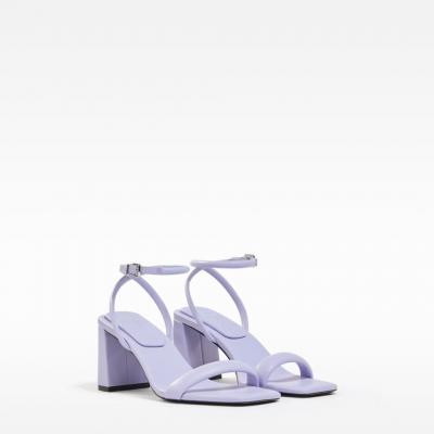 sandálias lilás