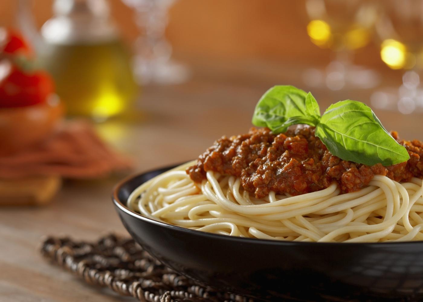 prato de esparguete bolonhesa