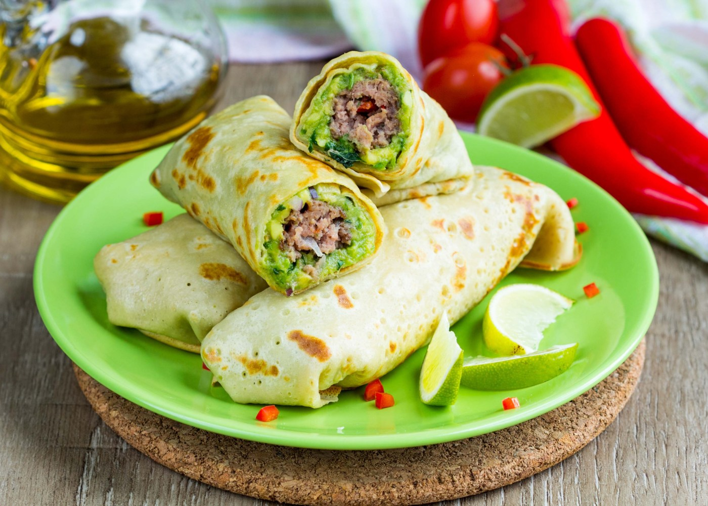 wrap de guacamole e frutos secos