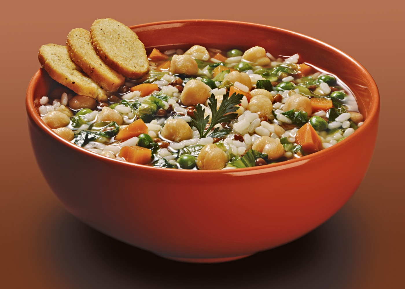 arroz de grão-de-bico e frango
