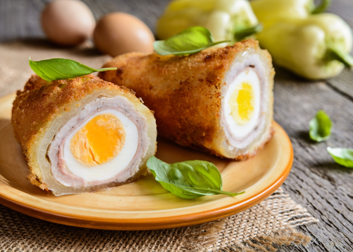 bifes recheados com ovo