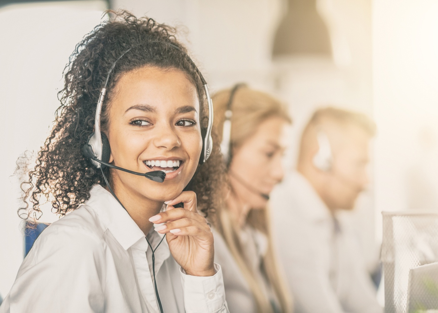 colaboradora call center