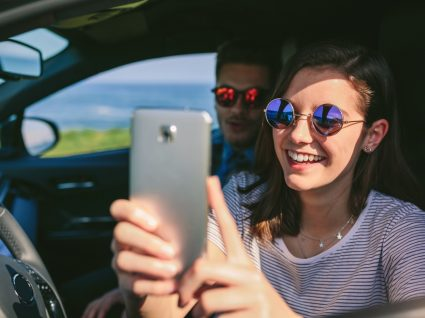 Fotografia em carro