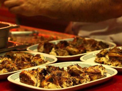 Preparação de frango da guia