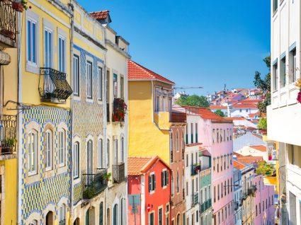 Foto do casario do Rossio, em Lisboa