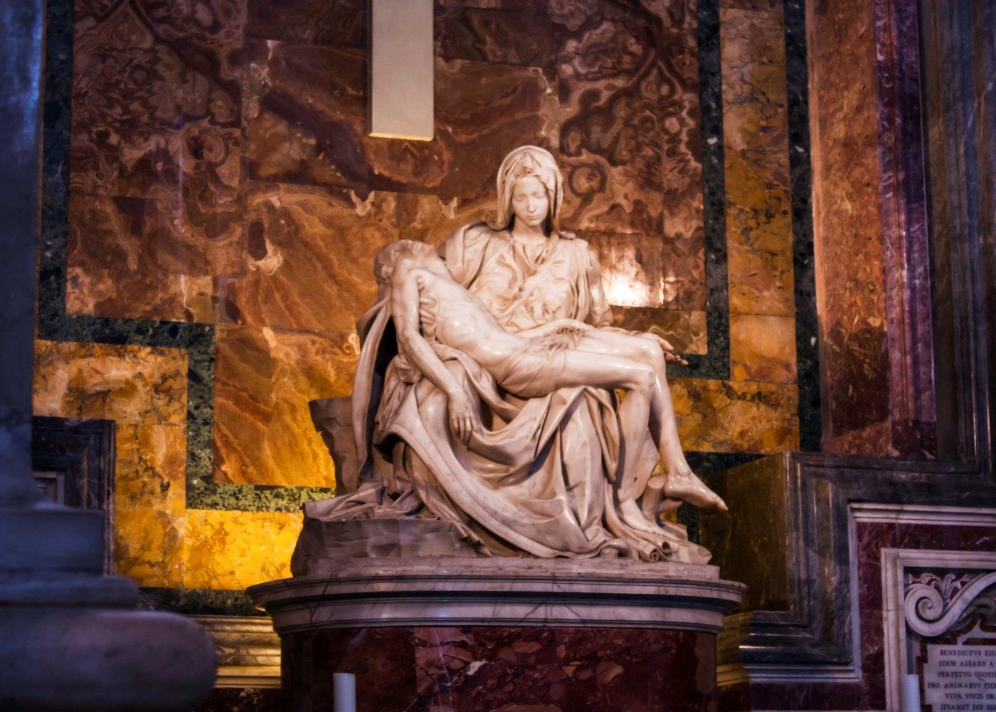 Escultura Pietá no vaticano
