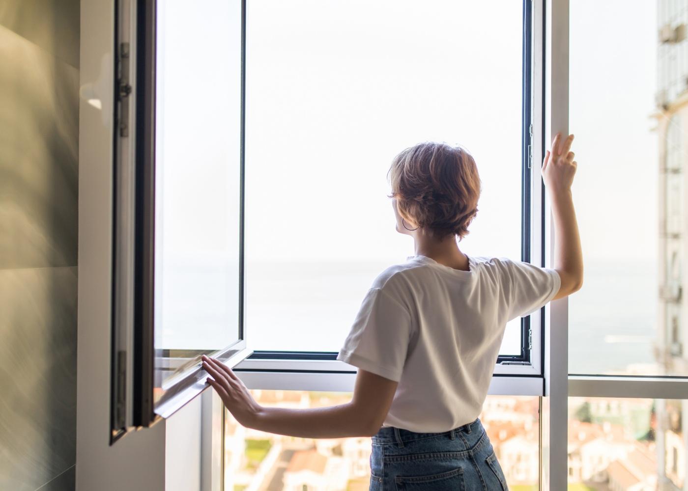 abrir janelas de casa
