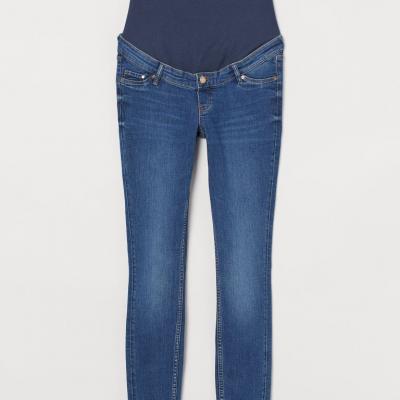 calças de ganga com elastico